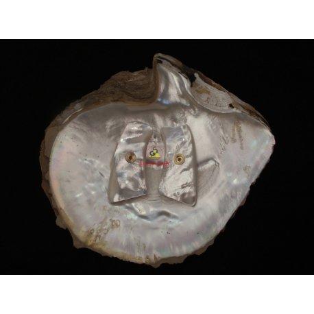 Ruger GP100 Grips - effettuata in madreperla bianca