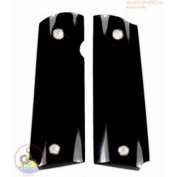 apretones de la pistola 1911a1 - 100% auténtica auténtico Cuerno negro con vena natural (1911A1_005)