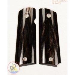 1911a1 Pistole Griffe - handgefertigt aus 100 % authentisch echt schwarz Horn mit natürlichen weißen Streifen (1911A1_006)