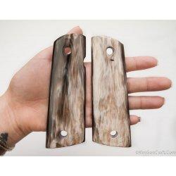 1911a1 pistol grip - Handmade from Marble Cattle Horn
