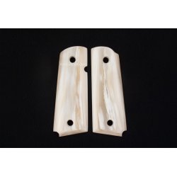 1911a1 pistol grip - Handmade from Cattle Horn with 70% White Color