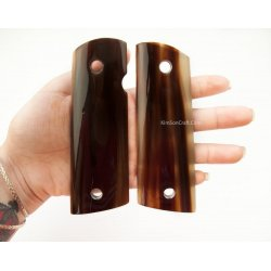 1911a1 pistol grip - Handmade from Cattle Horn With light Transparent Brown Color