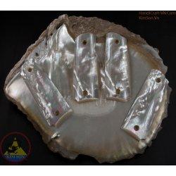 pistolet 1911 a 1 accroche - fait main 100 % authentique véritable mère de perle coquillage (1911A1_013)