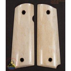 1911A1 pistol grip - Handmade dall'osso di bufalo in marmo genuino autentico di 100% (1911A1_011)